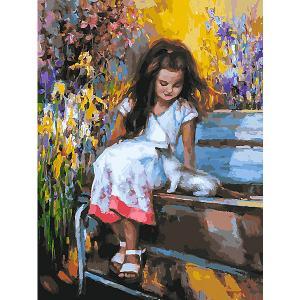 Картина по номерам  Знакомство в саду Белоснежка