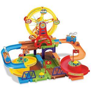 Железная дорога  с поездом (свет, звук) Devik Toys. Цвет: разноцветный