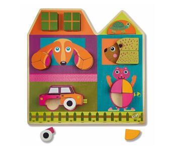 Деревянная игрушка  Пазл Построй дом Oops