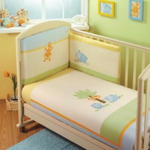 Комплект в кроватку  Jungle Sestetto Long (6 предметов) Feretti