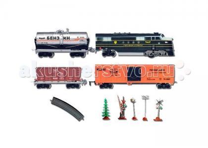 Железная дорога Паровоз с тремя вагончиками 330 см 87124 Голубая стрела