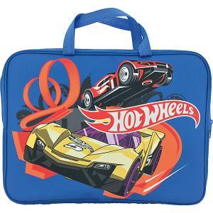 Папка-сумка Centrum «Hot Wheels», с ручкой, А4. Цвет: синий