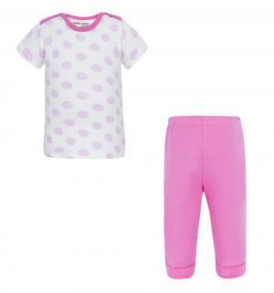 Комплект футболка/брюки , цвет: розовый Luvable Friends