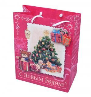 Подарочный пакет  Елка с подарками Яркий Праздник