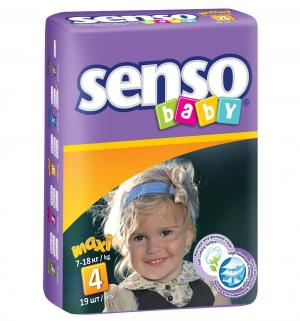 Подгузники  Maxi (7-18 кг) 19 шт. Senso Baby