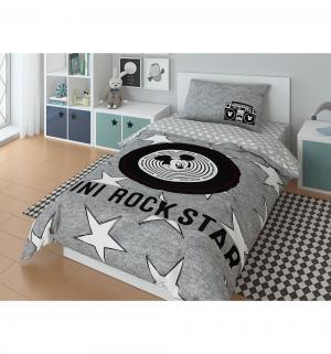 Комплект постельного белья  Mickey Rock star, цвет: серый Нордтекс