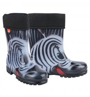 Резиновые сапоги  Зебра, цвет: черный Demar