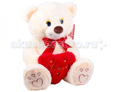 Мягкая игрушка  Медведь маленький с сердцем 45 см Нижегородская