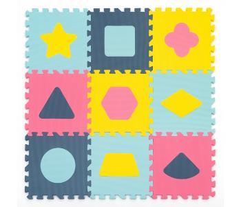 Игровой коврик  с фигурами Геометрия, толщина 15 мм KB-D20C-9-NT FunKids