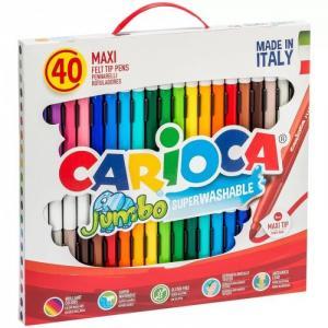 Фломастеры  смываемые Jumbo 36 цветов 40 шт. Carioca