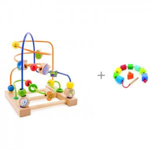 Деревянная игрушка  Лабиринт № 3 с Бусами Геометрия Мир деревянных игрушек