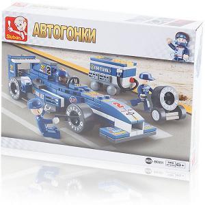 Конструктор  Автогонки: Гоночный автомобиль F1, 196 деталей Sluban. Цвет: разноцветный