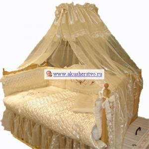 Комплект в кроватку  Эстель (8 предметов) Золотой Гусь