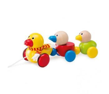 Каталка-игрушка  Семейство утят Wonderworld