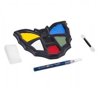 Набор детских красок для грима  Eva Moda аппликатор+спонж+карандаш (6 цветов. 8.1г) Bondibon