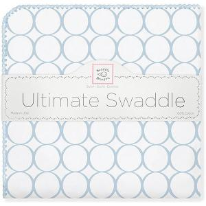 Фланелевая пеленка  Blue Mod, 110х110 см SwaddleDesigns. Цвет: голубой