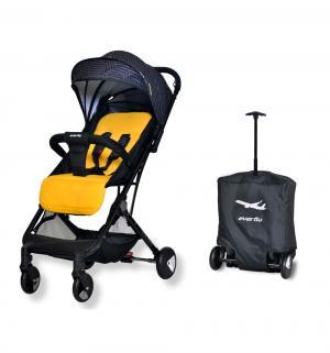 Прогулочная коляска  Baby travel E-330, цвет: yellow Everflo