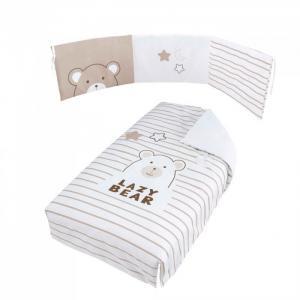 Комплект в кроватку  Покрывало и бортики Bubu 120x60 Micuna