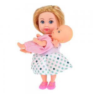 , Набор из 2-х кукол Машенька и младшая сестренка с аксесс., 12см 5см, блистере Карапуз