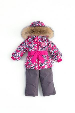 Комплект куртка/полукомбинезон  Inkeri, цвет: розовый/серый Nels
