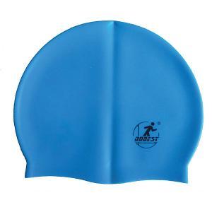 Силиконовая шапочка для плавания , голубая Dobest