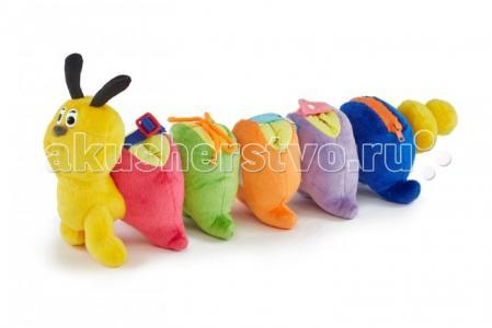 Мягкая игрушка  Гусеничка-веселые застежки mini 20 см Pic`n Mix