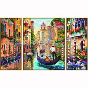 Картина по номерам Триптих Венеция Город в Лагуне 50х80 см Schipper
