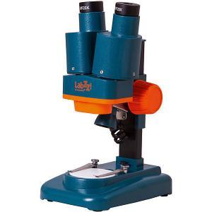 Микроскоп  LabZZ M4 стерео, 40х Levenhuk. Цвет: синий