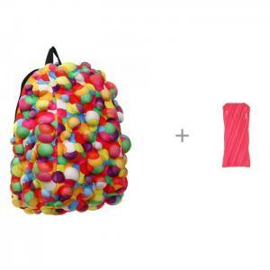 Рюкзак Bubble Half Dont burst 36 см с пеналом-сумочкой Zipit Neon Pouch MadPax