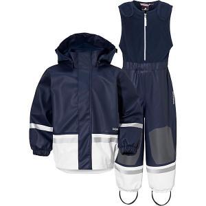 Комплект Didriksons Boardman: куртка и полукомбинезон. Цвет: темно-синий