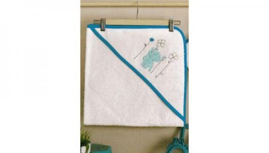 Комплект полотенце-уголок + варежка Elephants Kidboo