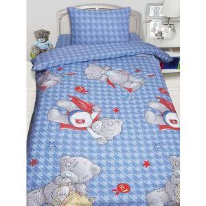 Детское постельное белье 1,5 сп. MTY Ded на голубом Мона Лиза. Цвет: синий