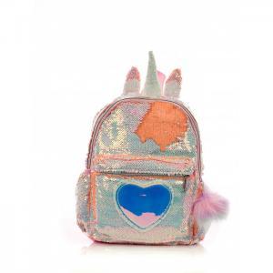 Рюкзак с пайетками Единорог сердцем Bright Dreams помпоном Mihi