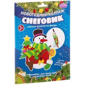 Аппликация  «Новогодний коллаж. Снеговик» Bondibon