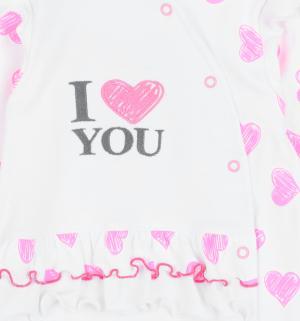 Комбинезон  Serce, цвет: белый/розовый Aga