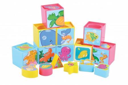 Развивающая игрушка  Набор кубиков 9 штук с вкладышами Red Box