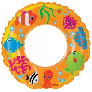Надувной круг  Рифы океана, желтый, 61 см Intex