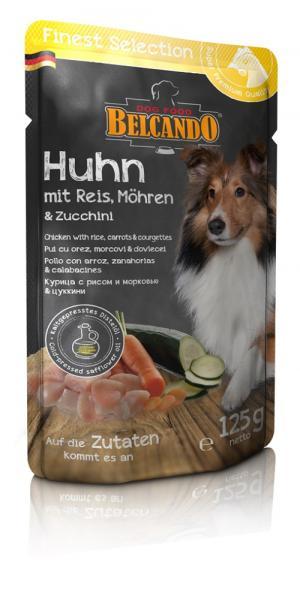 Влажный корм  Finest Selection для взрослых собак привередливых в еде, курица/овощи, 125г Belcando