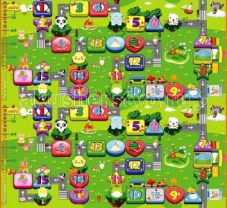 Игровой коврик  Забавный лабиринт 200х180х0.5 см BabyPol