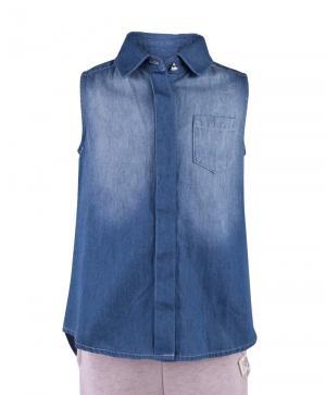 Блузка , цвет: голубой Button Blue