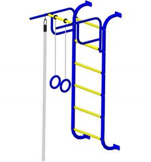 Спортивный комплекс  7, цвет:синий/желтый Пионер