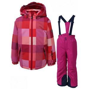 Комплект Color Kids Streep: куртка и полукомбинезон. Цвет: розовый