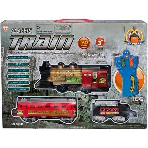 Железная дорога Qunxing Toys. Цвет: grau/rot