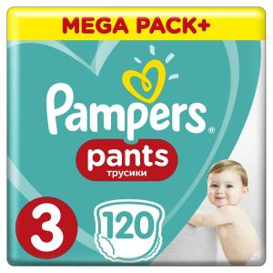 Трусики  Pants 3 размер (6-11 кг) 120 шт. Pampers