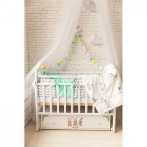 Детская кроватка  Зайки (поперечный маятник) ByTwinz