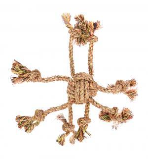 Игрушка для собак  Клубок веревочный с канатиками, цвет: оранжевый, 32см I.P.T.S.