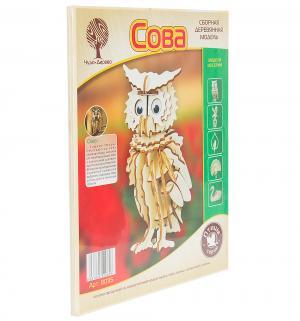 Сборная деревянная модель  Сова маленькая Wooden Toys