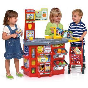 Игровой звуковой супермаркет  с тележкой (17 предметов) Molto