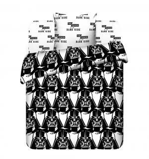 Комплект постельного белья , цвет: белый/черный Василек