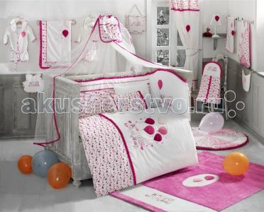 Комплект в кроватку  Happy Birthday (6 предметов) Kidboo